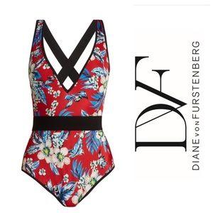 Diane Von Furstenburg Deep V Neck One piece